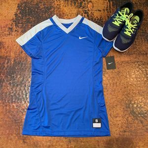 NWT Nike Women's Blue Dri-FIT Athletic Top - S